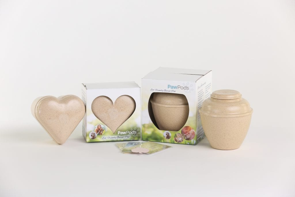 Heart shaped pet urn