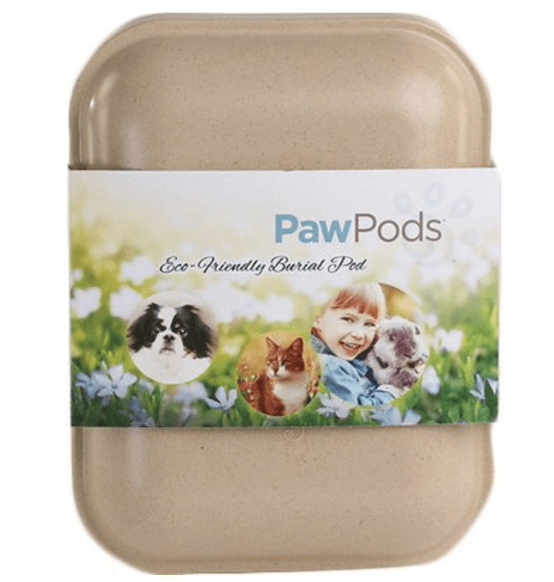 pawpods medium pet casket